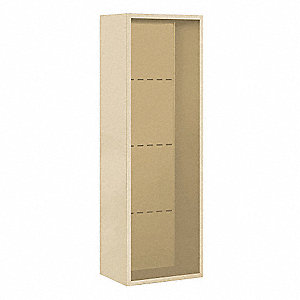 "17-1/2"" x 49-1/8"" Enclosure for Single Column 13 Door Horizontal Mailbox, Beige Powder Coated"