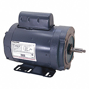 1 HP Milk Pump Motor,Permanent Split Capacitor,3450 Nameplate RPM,208-230 Voltage,Frame 56HCZ