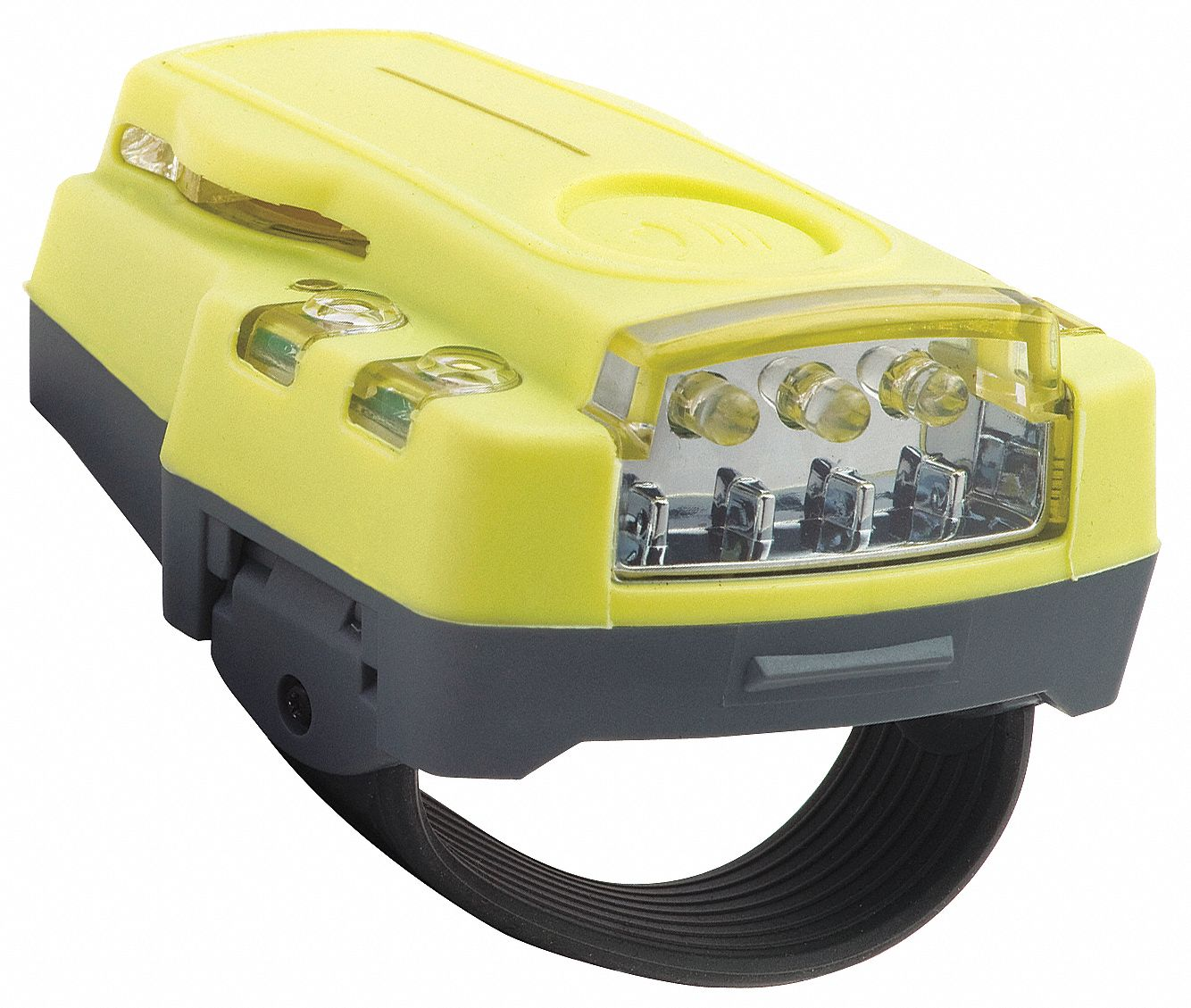 LED Hands Free Light, Plastic, Yellow, 3.5 in