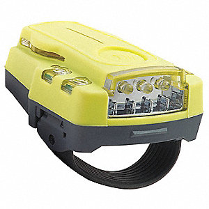 LED Hands Free Light, Plastic, Yellow, 3.50""