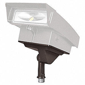 Aluminum Mount for Floodlight, Bronze