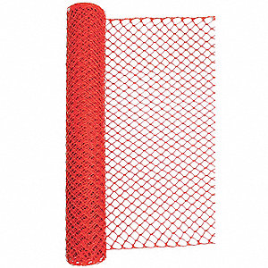 "Barrier Fence, 1-3/4 x 1-3/4"" Mesh Size, 4 ft. Height, 50 ft. Length"