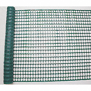 "Snow Fence, 1-1/2 x 1-3/4"" Mesh Size, 4 ft. Height, 50 ft. Length"