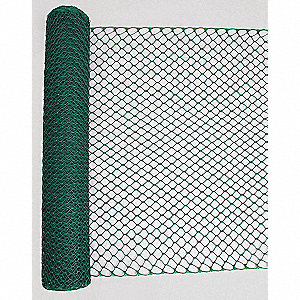 "Safety Fence, 1-1/2"" x 1-3/4"" Mesh Size, 4 ft. Height, 50 ft. Length"