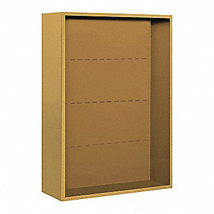 "32-1/4"" x 42-1/8"" Enclosure for Double Column 11 Door Horizontal Mailbox, Gold Powder Coated"
