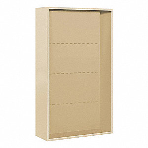 "32-1/4"" x 52-5/8"" Enclosure for Double Column 14 Door Horizontal Mailbox, Beige Powder Coated"
