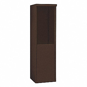 "17-1/2"" x 58-3/4"" Enclosure for Single Column 8 Door Horizontal Mailbox, Bronze Powder Coated"