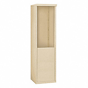 "17-1/2"" x 62-1/4"" Enclosure for Single Column 9 Door Horizontal Mailbox, Beige Powder Coated"