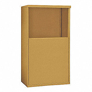 "32-1/4"" x 48-1/4"" Enclosure for Double Column 5 Door Horizontal Mailbox, Gold Powder Coated"