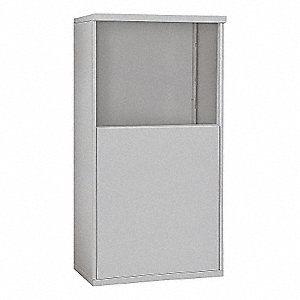"32-1/4"" x 55-1/4"" Enclosure for Double Column 6 Door Horizontal Mailbox, Gray Powder Coated"