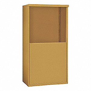 "32-1/4"" x 55-1/4"" Enclosure for Double Column 7 Door Horizontal Mailbox, Gold Powder Coated"