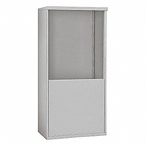 "32-1/4"" x 62-1/4"" Enclosure for Double Column 9 Door Horizontal Mailbox, Gray Powder Coated"