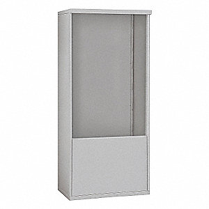 "32-1/4"" x 69-1/4"" Enclosure for Double Column 12 Door Horizontal Mailbox, Gray Powder Coated"