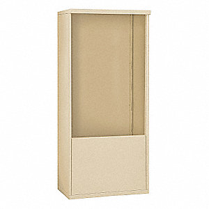 "32-1/4"" x 69-1/4"" Enclosure for Double Column 12 Door Horizontal Mailbox, Beige Powder Coated"