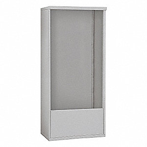 "32-1/4"" x 69-1/4"" Enclosure for Double Column 14 Door Horizontal Mailbox, Gray Powder Coated"