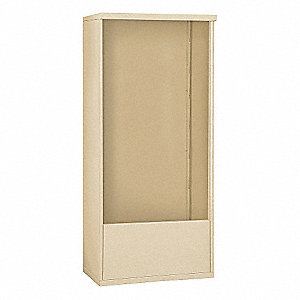 "32-1/4"" x 69-1/4"" Enclosure for Double Column 14 Door Horizontal Mailbox, Beige Powder Coated"