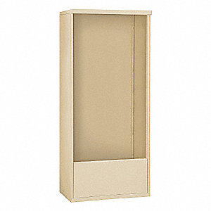 "32-1/4"" x 72"" Enclosure for Double Column 15 Door Horizontal Mailbox, Beige Powder Coated"