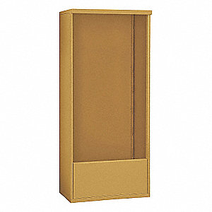 "32-1/4"" x 72"" Enclosure for Double Column 16 Door Horizontal Mailbox, Gold Powder Coated"