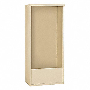 "32-1/4"" x 72"" Enclosure for Double Column 16 Door Horizontal Mailbox, Beige Powder Coated"
