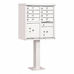 Cluster Box Unit,8 Doors,White