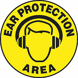 Floor Sign,Ear,17 In. Dia.
