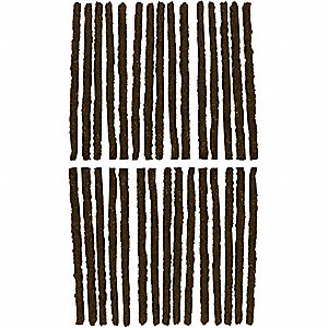 BROWN TIRE REPAIR STRINGS,30 PC.