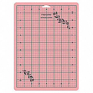 "12"" x 9"" Self-Healing Cutting Mat, Pink, Green and Orange"