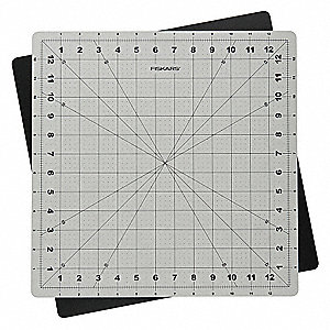 "14"" x 14"" Self-Healing Cutting Mat, Gray"
