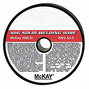 "2 lb. Stainless Steel Box MIG Welding Wire with 5/16"" Diameter and ER308LSi AWS Classification"