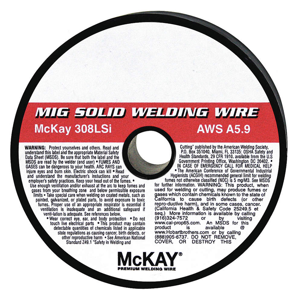 MCKAY 2 lb. Stainless Steel Box MIG Welding Wire with Diameter ...