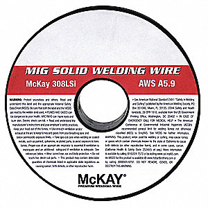 "10 lb. Stainless Steel Box MIG Welding Wire with 5/16"" Diameter and ER308LSi AWS Classification"