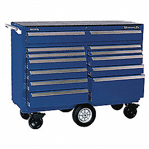 "Blue Combination Tool Chest/Cabinet, Maintenance Pro , Width: 57-1/4"", Depth: 20"", Height: 43-1/2"""