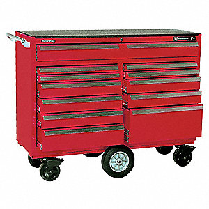 "Red Combination Tool Chest/Cabinet, Maintenance Pro , Width: 57-1/4"", Depth: 20"", Height: 43-1/2"""