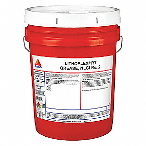 Red Lithium Complex Multipurpose Grease, 35 lb., NLGI Grade: 2