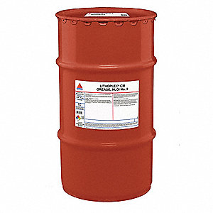Gray Lithium Complex Multipurpose Grease, 120 lb., NLGI Grade: 2