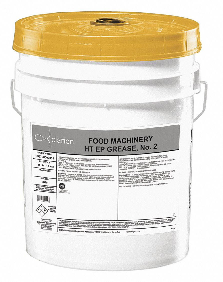 White,  Aluminum Complex,  Multipurpose Grease,  35 lb,  2 NLGI Grade