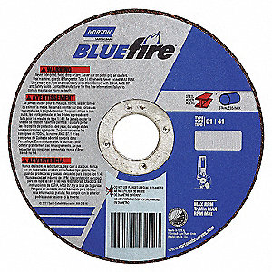 "CutOff Wheel,Blue Fire,4-1/2""x.045""x7/8"""