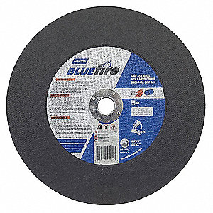 "14"" Type 1 Zirconia Alumina Abrasive Cut-Off Wheel, 1"" Arbor, 7/64""-Thick, 4365 Max. RPM"