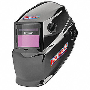 "Auto-Darkening Welding Helmet, 9 to 13 Lens Shade, 3.82"" x 1.73"" Viewing AreaBlack"