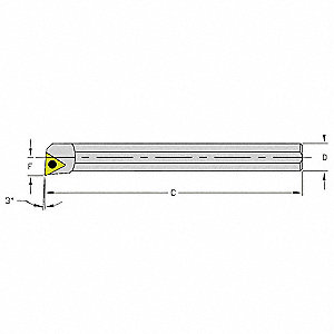 Boring Bar, HM08Q STUCL2