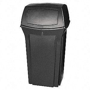 CONTAINER WASTE 35 GAL BLACK