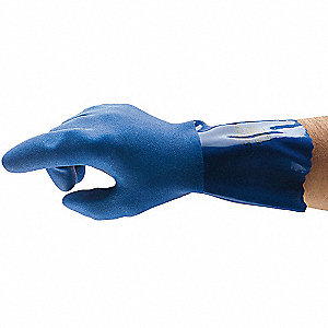 "Chemical Resistant Gloves, Size 11, 12""L, Blue ,  1 PR"
