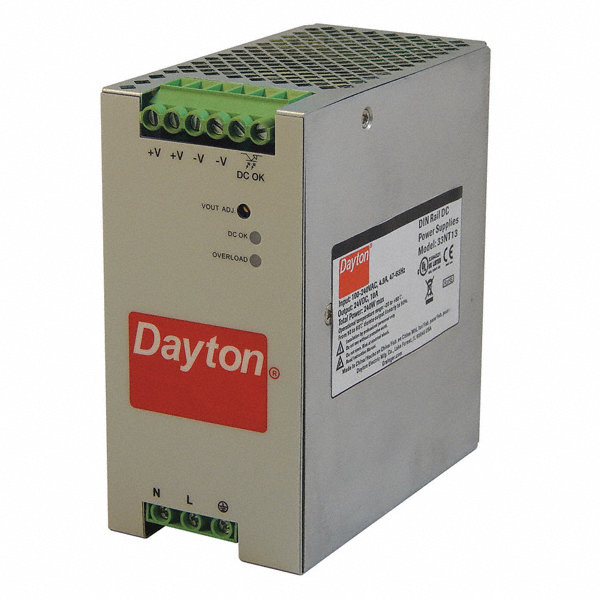 Dayton Dc Power Supply Style Linear Mounting Din Rail