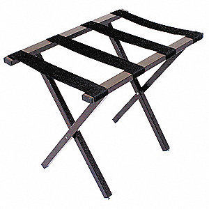 "Steel Luggage Rack, 20-1/2"" H X 25-1/4"" W X 16-1/2"" D, Cap.: 300 lb., Powder Coated"