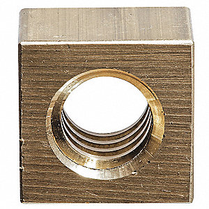 360 Brass Square Nut with 1-1/2-4 Thread Size&#x3b; PK1