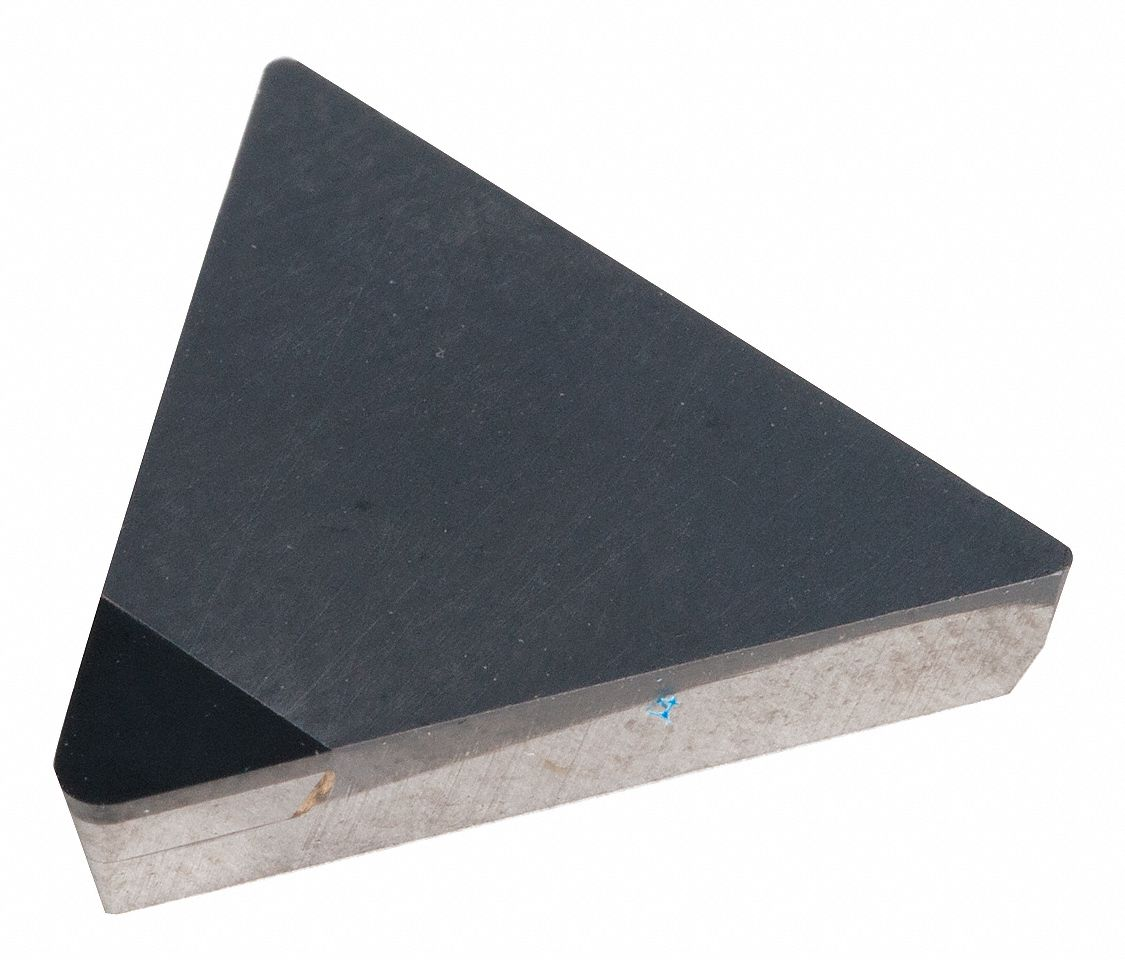Triangle Turning Insert,  Inscribed Circle 3/8 in,  Bright (Uncoated)