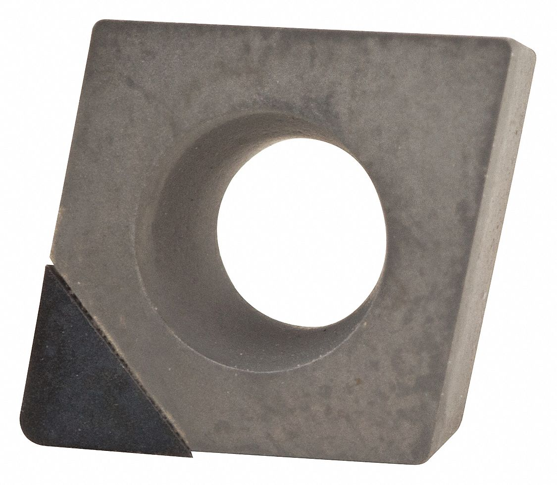 Diamond Turning Insert,  Inscribed Circle 1/4 in,  Bright (Uncoated)
