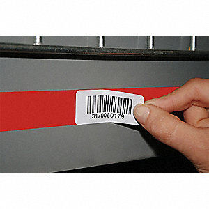 "Film Label Holder, Red, 4""L x 4""W, 1 EA"