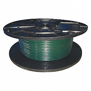 Cable,1/8 in.,25 ft.,7 x 7,Green Poly