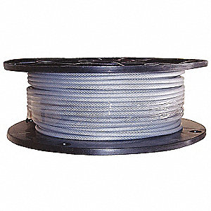 Cable,1/4 in.,50 ft.,7 x 19,Nylon